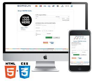 Reszponzív, HTML5 + CSS3 fizetési oldal
