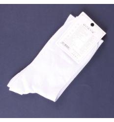 Egyszínű fehér női zokni pamut (602)