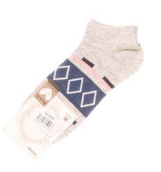 Kockás, csíkos női pamut titok zokni (ND896)