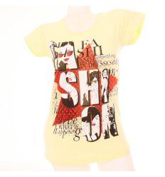 Fashion mintás női hosszított pamut felső póló