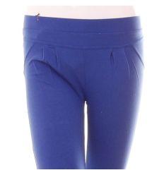 Egyszínű, derekánál és térdénél húzott női pamut 3/4-es leggings (NQ153)