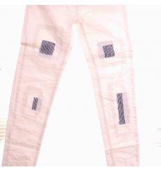 Foltozott mintás női rugalmas vászon hosszú nadrág (LCH16F68)