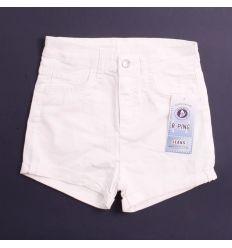 Egyszínű, sima zsebes női magasabb derekú rövid nadrág (9011)
