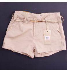 Magas derekú, zsebén arany bilétás női rövid nadrág (G2928)