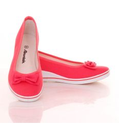 Nagy masnis éksarkú női balerina vászon cipő (B68)