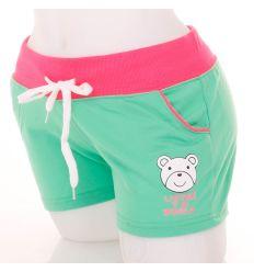 Macis mintás, neonos, női sportos rövid nadrág (GX-313)