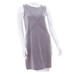 Szegecsekkel díszített, ujjatlan női mini ruha, tunika (NK25087)