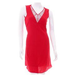 Moletti v-nyakú, köves, vállán hálós női laza ruha, tunika (K302)