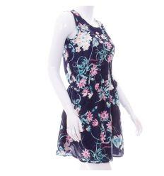 Vegyes mintás, derekán gumis női nyári mini ruha (KD1610)