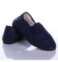 Egyszínű, gumis, bundás női mamusz cipő (W8882)