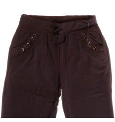 Köves zsebű, moletti pamutos anyagú női melegítő alsó, nadrág (Z-569)