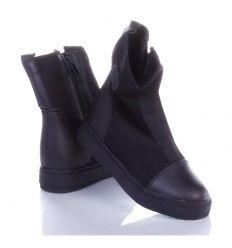 Enyhén bélelt, cipzáros, magasszárú cipő (A-10)