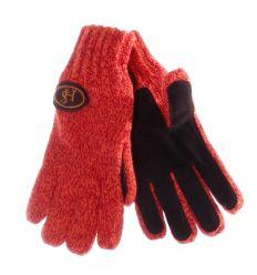 Bélelt kötött hasított bőr betétes 5 ujjas felnőtt kesztyű (Kinglong)
