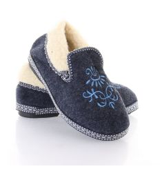 Női bundás gumi talpú belebújós mamusz cipő (W8631)