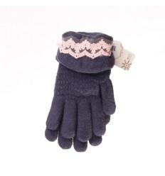 Horgolt csipkés rugalmas bélelt női kesztyű (NK370)